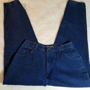 Vintage High Waisted Mom Jeans Dark Wash